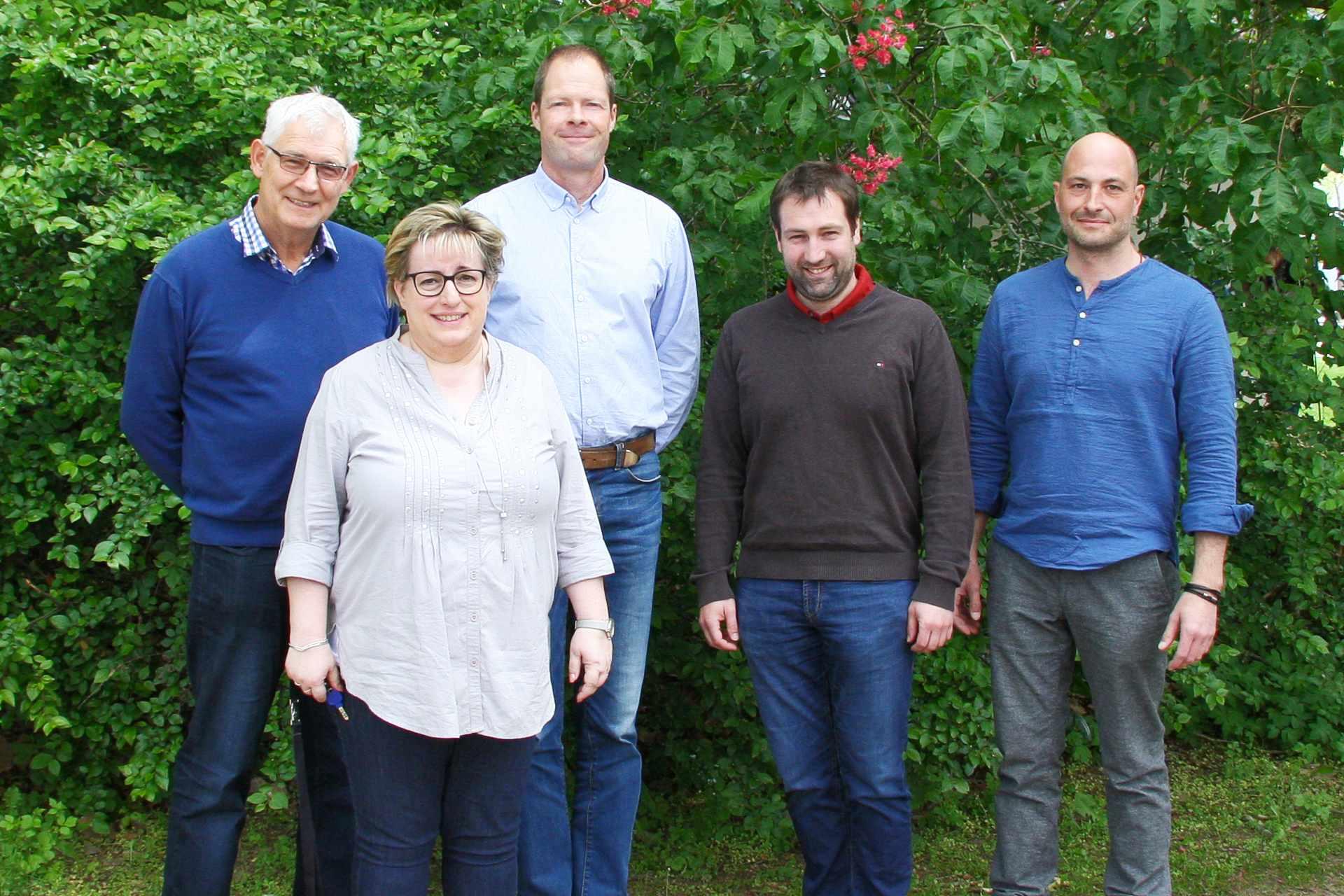 Klaus Warmuth, Annett Hellmuth, Rolf Hoffmann, Johannes Hammerl, und Jens Stahl - von links nach rechts