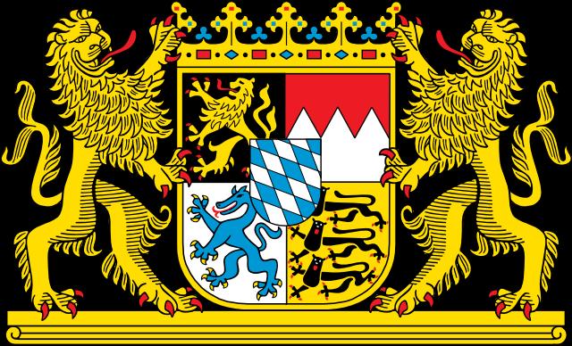 Bayerisches Staatswappen – großes Staatswappen